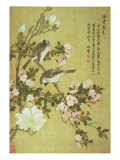 Crabapple, Magnolia and Baitou Birds