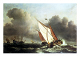 Dutch Shipping Offshore in a Rising Gale