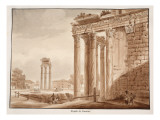 Buy The Temple of Faustina, 1833 at AllPosters.com