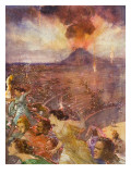 Eruption of Vesuvius Giclee Print