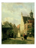 A Street Scene in a Dutch Town