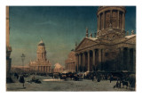Gendarmenmarkt in Winter, 1857