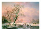 Skaters on a Frozen River