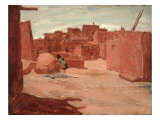 Adobe Village Giclee Print