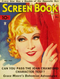 Mae West - Screen Book Magazine Cover 1930's