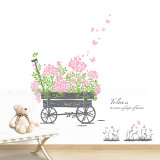 Sweet Love Pull Flower Wagon