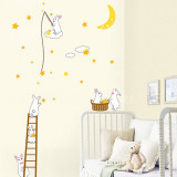 Bunnies Harvesting the Constellation Wall Decal