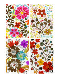 Four Floral Designs