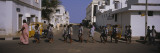 School Children Crossing the Road, Pondicherry, India,