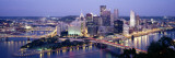 Pittsburgh Lit Up at Dusk, Allegheny County, Pennsylvania, USA