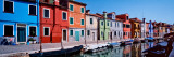 Buy Houses at the Waterfront, Burano, Venetian Lagoon, Venice, Italy at AllPosters.com