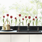 Red tulips(Window Decal)