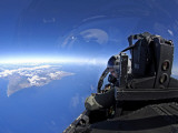 US Air Force Captain Looks out Over the Sky in a F-15 Eagle