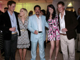 Prince William, Natasha Bedingfield, Tom Jones, Joss Stone and Prince Harry following pop concert i