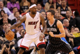 Orlando Magic v Miami Heat, Miami, FL - March 03: LeBron James and Hedo Turkoglu