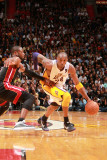 Los Angeles Lakers v Miami Heat, Miami, FL - March 10: Kobe Bryant and Dwyane Wade