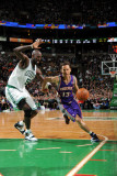 Phoenix Suns v Boston Celtics, Boston, MA - March 2: Steve Nash and Kevin Garnett