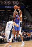 New York Knicks v Orlando Magic, Orlando, FL - March 1: Chauncey Billups, Dwight Howard and J.J. Re