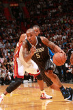 Orlando Magic v Miami Heat, Miami, FL - March 3: Quentin Richardson and Chris Bosh