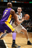 Los Angeles Lakers v Minnesota Timberwolves, Minneapolis, MN - March 1: Kevin Love and Lamar Odom