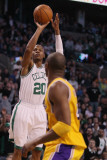 Los Angeles Lakers v Boston Celtics, Boston, MA - February 10: Ray Allen and Kobe Bryant