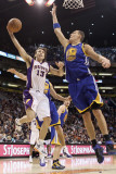 Golden State Warriors v Phoenix Suns, Phoenix, AZ - February 10: Steve Nash and Andris Biedrins
