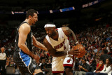Orlando Magic v Miami Heat, Miami, FL - March 3: LeBron James and Hedo Turkoglu