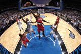 Portland Trail Blazers v Orlando Magic, Orlando, FL - March 7: Gerald Wallace and Gilbert Arenas