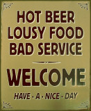 Hot Beer Tin Sign