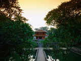 Sunset over Pavillion Inside Grounds of Tomb of Minh Mang, Ruler from 1820-40