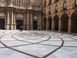 The Courtyard of Santa Maria De Montserrat, Benedictine Abbey