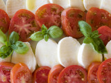 Tomatoes, Basil and Mozzarella Cheese