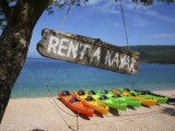 Kayaks for Rent on Beach at Point Kovacine West of Cres Town