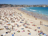 Summer Holiday Crowds on Bondi Beach
