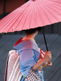 Geisha with Umbrella in Gion District