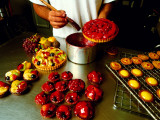 Chef Glazing Beautiful Cakes, Paris Patisserie Francaise