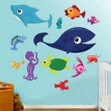 Sea Creatures 1 Wall Decal