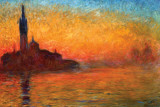 Buy Monet-Dusk Venice at AllPosters.com