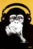 Steez-Headphone Monkey Poster