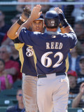 Milwaukee Brewers v Arizona Diamondbacks, SCOTTSDALE, AZ - MARCH 09: Jeremy Reed and Carlos Gomez
