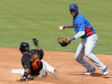 Chicago Cubs v San Francisco Giants, SCOTTSDALE, AZ - MARCH 01: Starlin Castro and Miguel Tejada