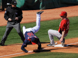 Cincinnati Reds v Cleveland Indians, GOODYEAR, AZ - FEBRUARY 27: Jason Donald and Jay Bruce