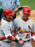 St. Louis Cardinals v Florida Marlins, JUPITER, FL - MARCH 01: Yadier Molina and Allen Craig