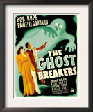 Ghost Breakers, Paulette Goddard, Bob Hope on Window Card, 1940