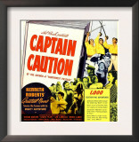 Captain Caution, Window Card, 1940
