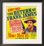 The Return of Frank James, Henry Fonda on Window Card, 1940