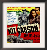 Kit Carson, Jon Hall, Lynn Bari, Jon Hall on Window Card, 1940