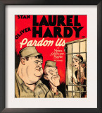 Pardon Us, Oliver Hardy, Stan Laurel on Window Card, 1931