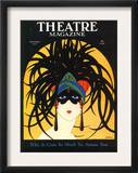 Theatre, Masks Magazine, USA, 1920 Framed Art Print