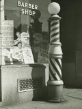 Striped Barber Pole Outside Shop